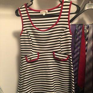 Vintage black and white striped dress